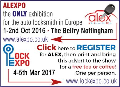 Advert: http://alex.lockexpo.co.uk/visitor-registration/