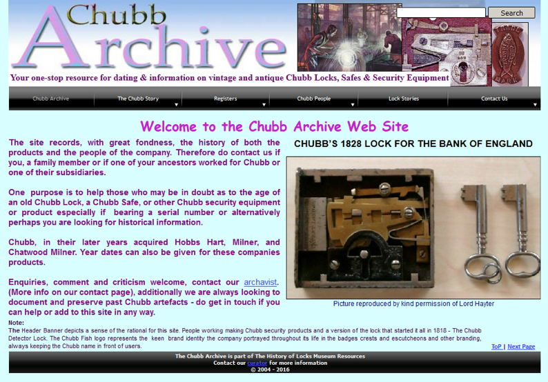 The History of Locks Museum News - Chubb Archive - Locks and
