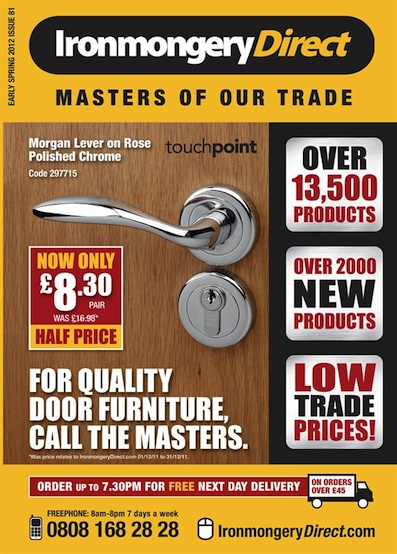 The New Ironmongerydirect Catalogue Out Now With Tradesmen