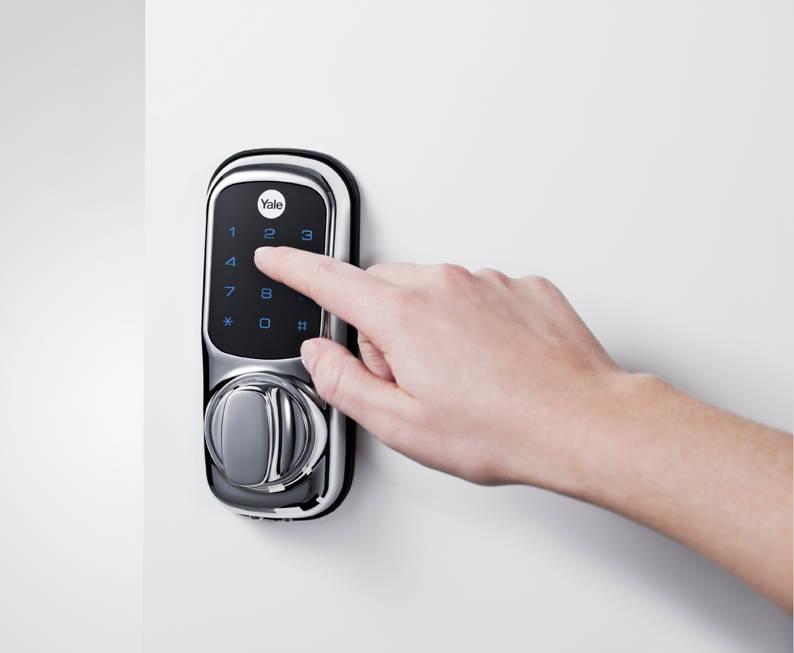 new y3 keyless code door lock wireless touch screen. Black Bedroom Furniture Sets. Home Design Ideas